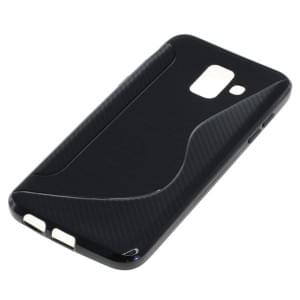TPU Silikon Case / Schutzhülle für Samsung Galaxy A6 (2018) S-Curve schwarz