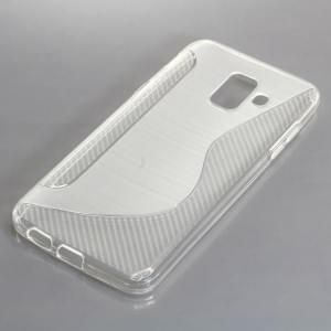 TPU Silikon Case / Schutzhülle für Samsung Galaxy A6 (2018) S-Curve transparent
