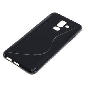 TPU Silikon Case / Schutzhülle für Samsung Galaxy A6+ Plus (2018) S-Curve schwarz