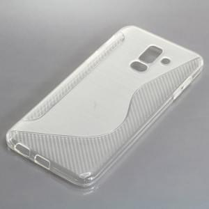TPU Silikon Case / Schutzhülle für Samsung Galaxy A6+ Plus (2018) S-Curve transparent