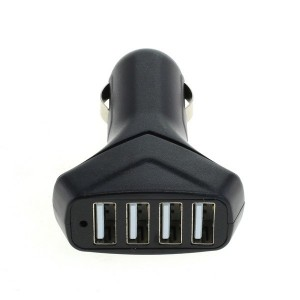 KFZ Ladeadapter USB 4-Port USB 6,0A mit Auto-ID Schwarz
