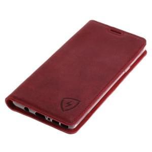 100% Echt Ledertasche mit RFID Schutz für Samsung Galaxy Note 9 ROT