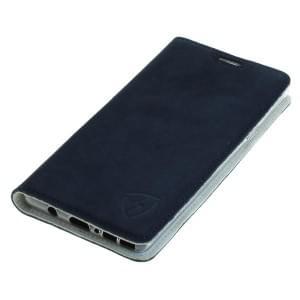 100% Echt Ledertasche mit RFID Schutz für Samsung Galaxy Note 9 blau / weiß