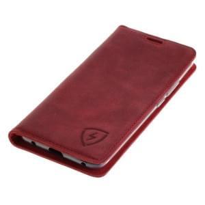 100% Echt Ledertasche mit RFID / NFC Schutz für Huawei Mate 20 Pro ROT