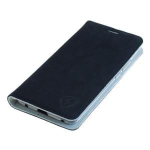 100% Echt Ledertasche mit RFID / NFC Schutz für Huawei Mate 20 Pro blau / weiß