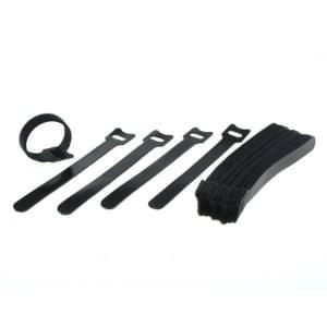 Kabelmanagement Klettband 25er Set schwarz 15cm