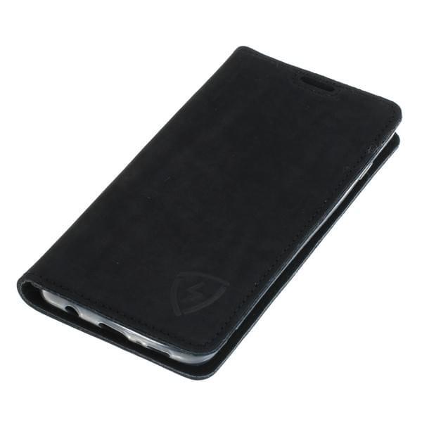 Echt Ledertasche mit RFID / NFC Schutz für Samsung Galaxy S10 SCHWARZ