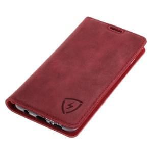 Echt Ledertasche mit RFID / NFC Schutz für Samsung Galaxy S10 ROT