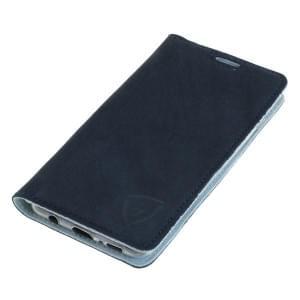 Echt Ledertasche mit RFID / NFC Schutz für Samsung Galaxy S10 blau / weiß
