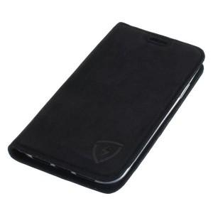 Schwarze Ledertasche mit RFID / NFC Schutz für iPhone 11