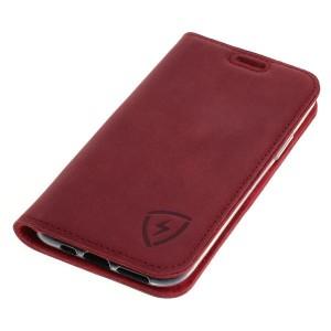 Rote Ledertasche mit RFID / NFC Schutz für iPhone 11 Pro