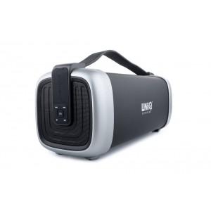 UNIQ Boombox Bluetooth Lautsprecher Schwarz SD USB AUX Radio