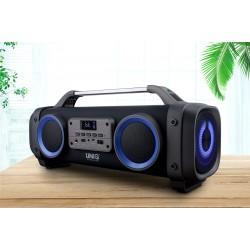 UNIQ Chant Bluetooth Lautsprecher Schwarz Karaoke MP3 USB Radio AUX