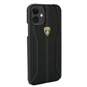 Lamborghini Lederhülle iPhone 11 Schwarz