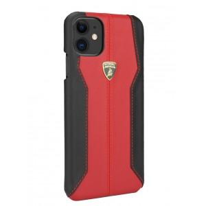 Lamborghini Lederhülle iPhone 11 Pro Max Rot / Schwarz