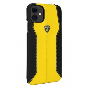 Lamborghini Lederhülle iPhone 11 Pro Max Schwarz / Gelb