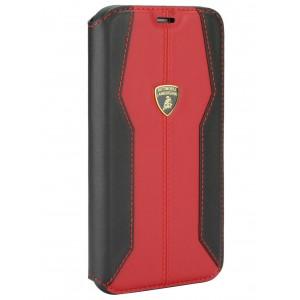 Lamborghini Ledertasche iPhone 11 Pro Max Schwarz / Rot