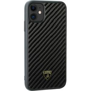 Lamborghini Echtes Carbon Hülle / Hardcover iPhone 11 Pro Max Schwarz