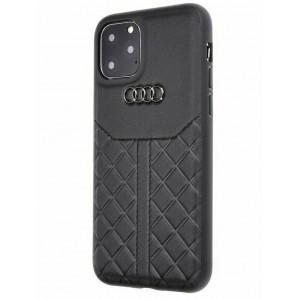Audi Lederhülle / Cover iPhone 11 Pro Max Q8 Serie Echtes Leder Schwarz