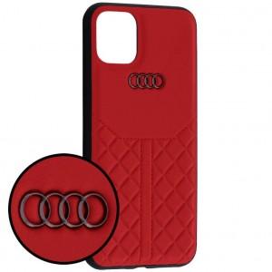 Audi Lederhülle / Cover iPhone 11 Pro Max Q8 Serie Echtes Leder Rot
