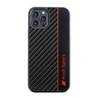 Audi iPhone 11 Pro Max Carbon Cover / Case / Hülle R8 Kollektion Schwarz Rot