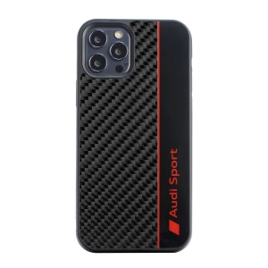 Audi iPhone 11 Carbon Cover / Case / Hülle R8 Kollektion Schwarz Rot