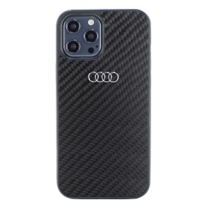 Audi iPhone 12 / 12 Pro Carbon Cover / Case / Hülle R8 Kollektion Schwarz
