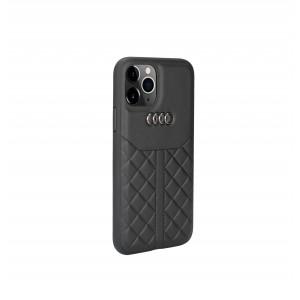 Audi iPhone 11 Pro Max Echtleder Hülle / Case Q8 Kollektion Schwarz