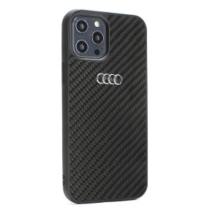 Audi iPhone 12 Mini Carbon Cover / Case / Hülle R8 Kollektion Schwarz