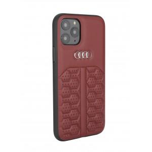 Audi iPhone 12 / 12 Pro Lederhülle / Cover A6 Serie Echtes Leder Rot