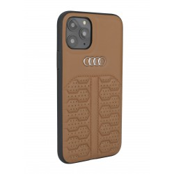 Audi iPhone 12 Mini Lederhülle / Cover A6 Serie Echtes Leder Braun