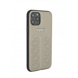 Audi iPhone 12 / 12 Pro Lederhülle / Cover A6 Serie Echtes Leder Beige