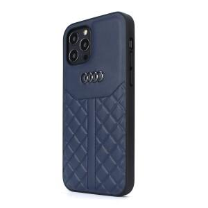 Audi iPhone 12 Pro Max Lederhülle / Cover Q8 Serie Echtes Leder Blau