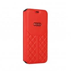 Audi iPhone 12 / 12 Pro Ledertasche Book Case Q8 Serie Echtes Leder Rot