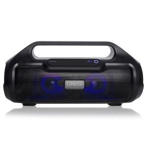 UNIQ Funky Bluetooth Lautsprecher Schwarz Speaker AUX SD USB TWS