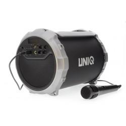 UNIQ Bluetooth Lautsprecher Karaoke MP3 USB Radio AUX MIC