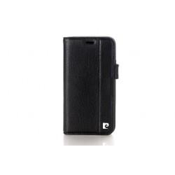 Pierre Cardin Vintage Book Case echtleder Tasche iPhone XS Max Schwarz