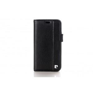Pierre Cardin Vintage Book Case echtleder Tasche iPhone XR Schwarz