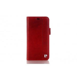 Pierre Cardin Vintage Book Case echtleder Tasche iPhone XR Rot