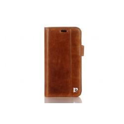 Pierre Cardin Vintage Book Case echtleder Tasche iPhone XS Max Braun