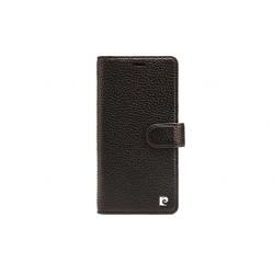 Pierre Cardin Classic Book Case echtleder Tasche iPhone XS Max Schwarz