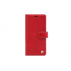 Pierre Cardin Classic Tasche Book Case iPhone XR echtleder Rot