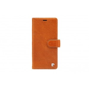 Pierre Cardin Classic Tasche Book Case iPhone XR echtleder Braun
