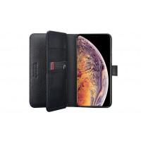 Pierre Cardin Deluxe Book Case echtleder Tasche für iPhone XR Schwarz