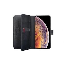 Pierre Cardin Deluxe Book Case echtleder Tasche für iPhone XS Max Schwarz