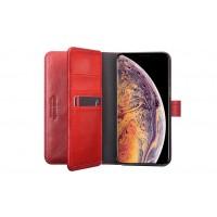 Pierre Cardin Deluxe Book Case echtleder Tasche für iPhone XS Max Rot