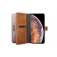 Pierre Cardin Deluxe Book Case echtleder Tasche für iPhone XR Braun