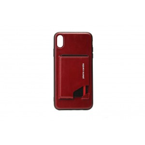 Pierre Cardin Card Case / Hülle für iPhone XR Rot Echtleder