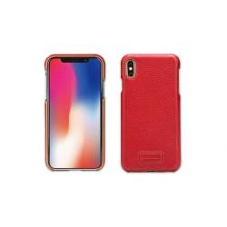 Pierre Cardin Case / Hülle für iPhone Xs Max Rot Echtleder