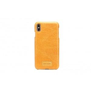 Pierre Cardin Case / Hülle für iPhone XR Gelb Echtleder